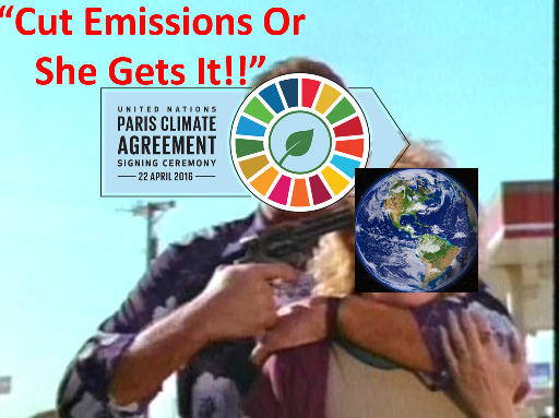 Moral Blackmail over Emission Reduction